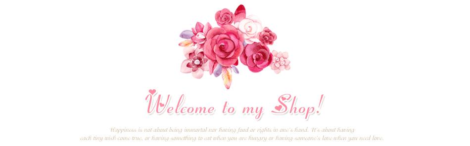 950粉色温馨花团锦簇爱心满满女装美容通用淘宝店铺装修欢迎光临图片