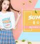 淘宝夏日新品女T恤促销海报